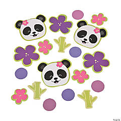 Plastic Panda Party Confetti