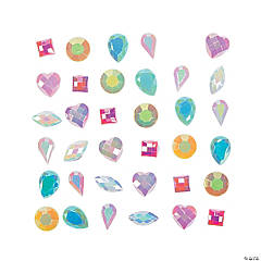 Plastic Pastel Princess Mix Jewels