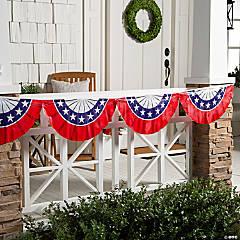 Plastic Patriotic Bunting