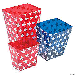 Plastic Patriotic Candy Buckets