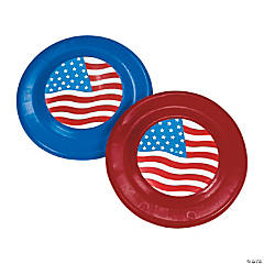 Plastic Patriotic Flying Disks