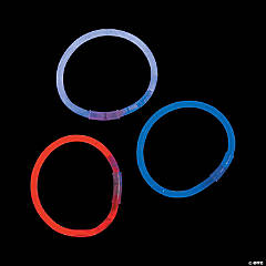 Plastic Patriotic Glow Bracelet Assortment