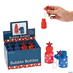 Plastic Patriotic Star Bubble Bottles