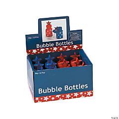 Plastic Patriotic Star Bubble Bottles