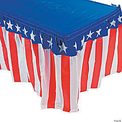 Plastic Patriotic Table Skirt