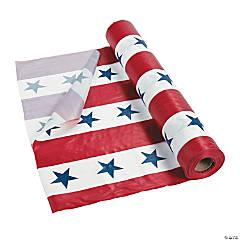 Plastic Patriotic Tablecloth Roll