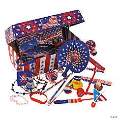 Plastic Patriotic Treasure Chest Assortment