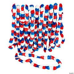 Plastic Patriotic Tri-Color Leis