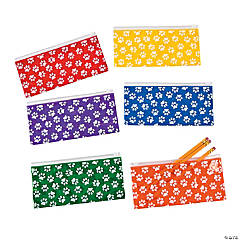 Plastic Paw Print Pencil Cases