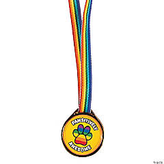 Plastic Pawsitively Awesome Award Medals