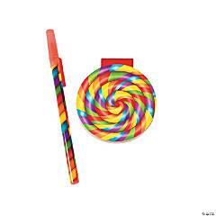 Plastic Pen And Paper Lollipop Notepads