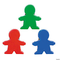 Plastic People-Shaped Clip Magnets