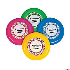 Plastic Personalized Mini Paradise Party Flying Discs