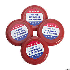 Plastic Personalized Patriotic Mini Flying Disks