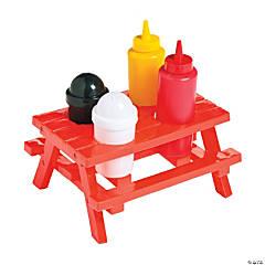 Plastic Picnic Table Condiment Set