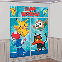 Plastic Pikachu & Friends Wall Decorating Kit