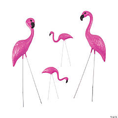Plastic Pink Flamingo Yard Ornaments