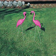 Plastic Pink Flamingo Yard Ornaments