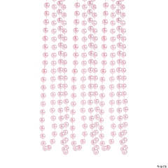 Plastic Pink Flapper Style Faux Pearl Necklaces