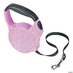 Plastic Pink Rhinestone Dog Leash