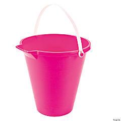 Plastic Pink Sand Bucket