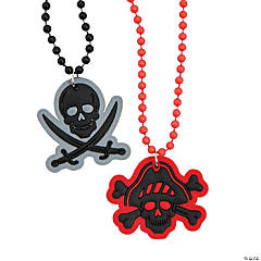 Plastic Pirate Beaded Necklaces