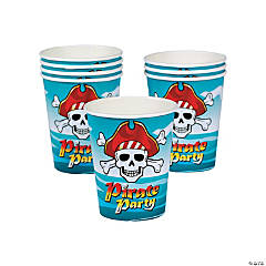 Plastic Pirate Party Cups