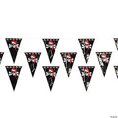 Plastic Pirate Pennant Banner