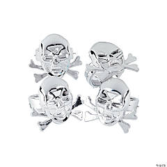 Plastic Pirate Skull Rings