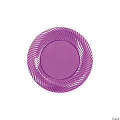 Plastic Plum Dessert Plates