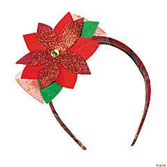 Plastic Poinsettia Headband