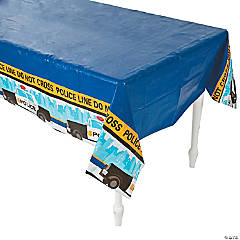 Plastic Police Party Tablecloth