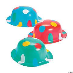 Plastic Polka Dot Derby Hats