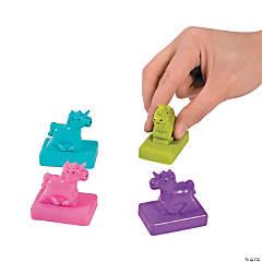 Plastic Pull-Back Unicorns