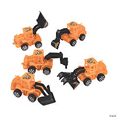 Plastic Pullback Construction Vehicles