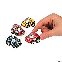 Plastic Pullback Race Cars with Cross