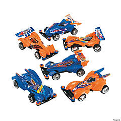Plastic Pullback Super Hawk Race Cars