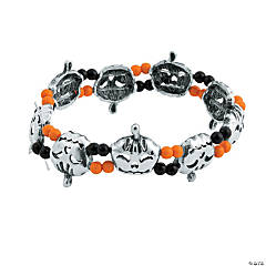 Plastic Pumpkin Bracelet Craft Kit