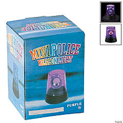 Plastic Purple Flashing Mini Beacon Light