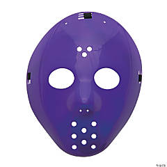 Plastic Purple Hockey Masks