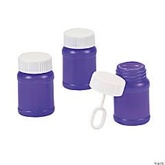 Plastic Purple Mini Bubble Bottles