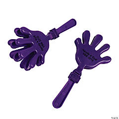 Plastic Purple Personalized Hand Clappers