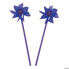 Plastic Purple Pinwheels - 36 Pc.