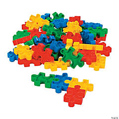 Plastic Puzzle-Shaped Block Set
