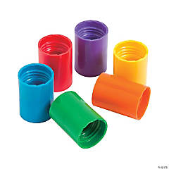 Plastic Rainbow Color Twister Tubes