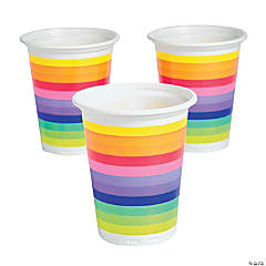 Plastic Rainbow Disposable Cups