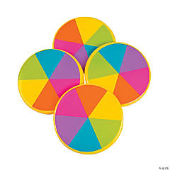 Plastic Rainbow Flying Disks