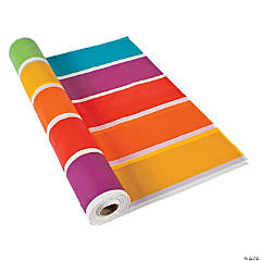 Plastic Rainbow Tablecloth Roll