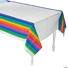 Plastic Rainbow Tablecloth