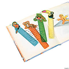 "Plastic ""Rainforest Friends"" Ruler Bookmarks"